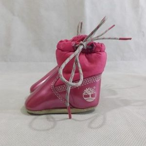Infant Girl TIMBERLAND Soft booties - Pink - Sz 0